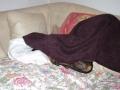 Ulki : ça yé ! suis caché !  je dors !!! cé ki sous la serviette !!
